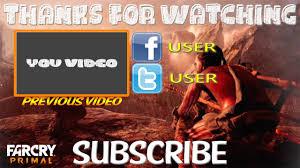 far cry primal outro template free sony vegas pro 11 12 13 youtube