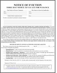 utah eviction law nuisanceeviction notice form blank vacate