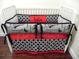 Custom Boy Crib Bedding Custom Baby Bedding Set Boston Boy Baby Bedding Sports