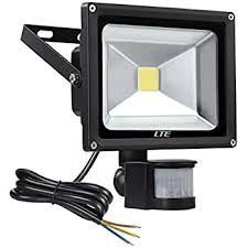 lte 20w motion sensor light outside security lights led floodlight