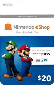 nintendo eshop gift card nintendo eshop 20 gift card gift cards