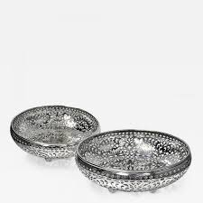 shreve crump u0026 low pair sterling silver fruit bowls shreve