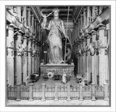 Parthenon Interior Buy Historic Print L Interior Of Parthenon As Restored By