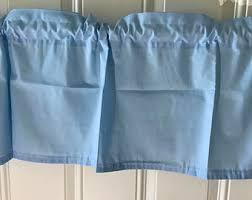 Blue Curtain Valance Blue Curtains Etsy