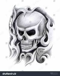 tribal cool skull designs on paper tattoos search