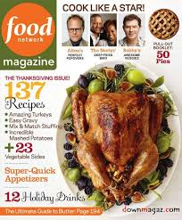 bingo placecards in food network magazine for turkey day