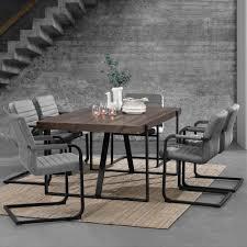 Esszimmertisch Set En Casa Esstisch Eiche Dunkel Mit 6 Stühlen 180x100 Tisch Stühle