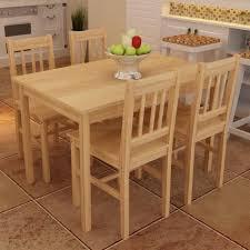 table avec 4 chaises table à manger avec 4 chaises en bois naturel achat vente table