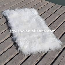 tappeti di pelliccia mongolo pelle di pecora piastra a pelo lungo tappeti in pelliccia