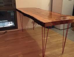 table cuisine bois brut table en bois brut de montage do it yourself