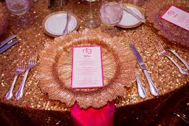 Pink And Gold Table Setting by Pink U0026 Gold Bar Mitzvah At The Temple In Atlanta Ga The