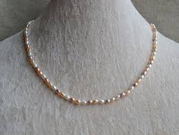 pearl size necklace images 100 real pearl necklace small size 3 4mm white pink purple color jpg