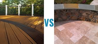 Composite Patio Pavers by Composite Deck Vs Patios Compare The Pros U0026 Cons And Styles