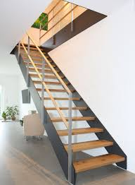 treppen holzstufen paltian treppenbau plz 97786 motten gerade treppe mit
