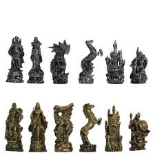 pewter u0026 glass fantasy chess set