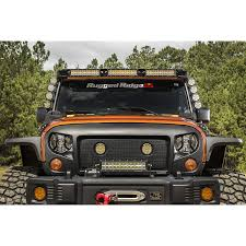 jeep wrangler tj light bar rugged ridge 11232 50 elite fasttrack windshield light bar 07 17
