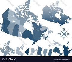 Map Of Canada Cities And Provinces by Map Of Canada And Provinces Royalty Free Vector Image