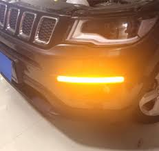 jeep yellow 2017 eosuns led drl daytime running light with yellow turn signal for