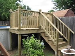 Backyard Deck Plans Pictures by Above Ground Pool Liners With Wooden Stairs Above Ground Pool