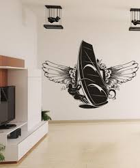 sports wall stickers sports decals for walls stickerbrand vinyl wall decal sticker wind surfer wings 1222