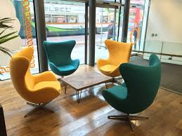 commercial upholstery egg chairs for bruntwood reloved upholstery