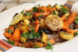 roasted root vegetables with herbs and balsamic vinegar