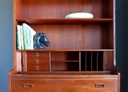 secretary desk with bookcase str8mcm borge mogensen teak secretary desk bookcase