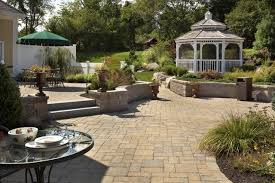 Retaining Wall Patio Multi Level Patio With Retaining Wall Patio Lighting