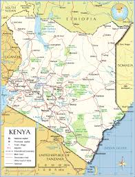 African Countries Map Political Map Of Kenya Nations Online Project