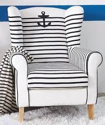 nautical wingback chair