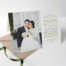 wedding thank you cards remarkable wedding thank you photo cards