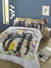 Down Double Duvet Bedding Elephant Dream Floral Watercolour Double Duvet Cover