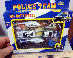 police jeep toy mega movers emergency team 6 piece set copters tanker jeep boat
