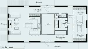 plan maison 2 chambres plain pied plan maison en h plan maison 2 chambres impressionnant plans