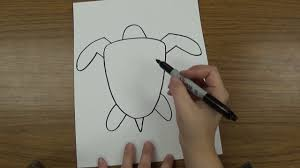 how to draw a sea turtle youtube