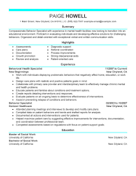 Resume Samples Livecareer by Behavior Specialist Resume Resume For Your Job Application