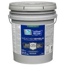 5 gallon sherwin williams weathershield tintable satin acrylic