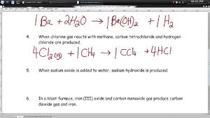 writing word equations worksheet u2013 episode 604 u2013 page 6 26 youtube