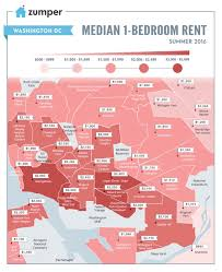 Las Vegas Neighborhood Map by Mapping Dc Rent Prices This Summer June 2016 The Zumper Blog