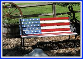patriotic park bench 4th of july pinterest bench and porch