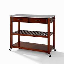 Kitchen Islands Stainless Steel Top by Kitchen Island Cart Stainless Steel Kitchenislands Info