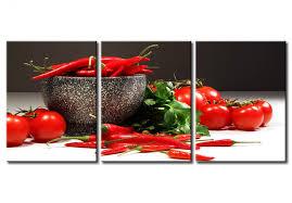 tableaux cuisine cadre mural dans la cuisine piments et tomates cuisine nature
