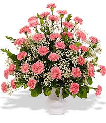 traditional carnation urn vase available in a variety of colors