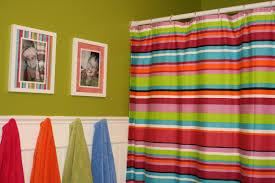 colorful kids bathrooms with colorful glass tile backsplash for