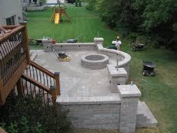 Backyard Patio Ideas Stone Brilliant Stone Decks And Patios Designs Patio Simple Stone Patios