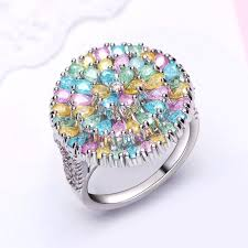 rings pink stones images Big round shape high end jewelry trending 2018 pastel color jpg