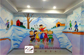 Kids Room Wall Painting Kids Mural Wall Painting Mumbai - Wall paint for kids room