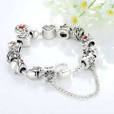 fashion jewelry charm bracelet images Fashion jewelry european charm bracelet with crown heart shape jpg