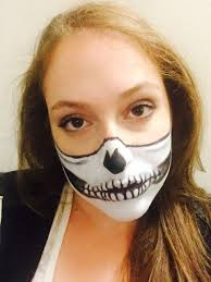 photos we tried a skull mask makeup halloween tutorial