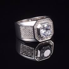 aliexpress buy 2ct brilliant simulate diamond men buy white gold and cz diamond ring and get free shipping on